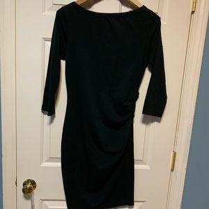 James Perse Black Casual Dress Ruched Waist
